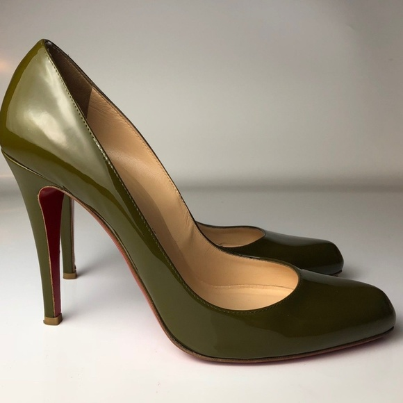 34fb0e03cc Christian Louboutin Shoes - Louboutin Decollete 868 100 Khaki Pumps Euro 39